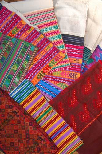 グアテマラ織りの布